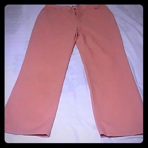 Jeans, size 16, light peach/coral colored